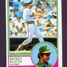 1983 Topps Baseball #571 Mickey Klutts - Oakland A's