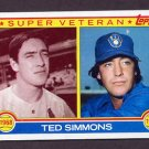 1983 Topps Baseball #451 Ted Simmons SV - Milwaukee Brewers