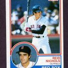 1983 Topps Baseball #446 Reid Nichols - Boston Red Sox