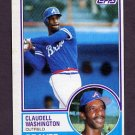 1983 Topps Baseball #235 Claudell Washington - Atlanta Braves