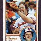 1983 Topps Baseball #217 Tim Stoddard - Baltimore Orioles