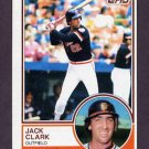 1983 Topps Baseball #210 Jack Clark - San Francisco Giants
