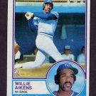 1983 Topps Baseball #136 Willie Aikens - Kansas City Royals
