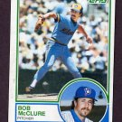 1983 Topps Baseball #062 Bob McClure - Milwaukee Brewers