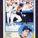 1983 Topps Baseball #039 Terry Puhl - Houston Astros