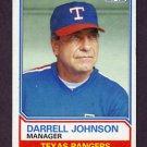 1983 Topps Baseball #037 Darrell Johnson MG - Texas Rangers