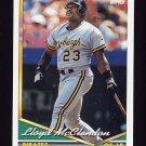 1994 Topps Baseball #518 Lloyd McClendon - Pittsburgh Pirates