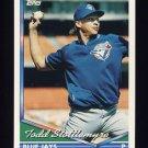1994 Topps Baseball #155 Todd Stottlemyre - Toronto Blue Jays