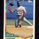 1994 Topps Baseball #054 Mark Whiten - St. Louis Cardinals