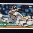 1994 Topps Baseball #017 Lance Blankenship - Oakland A's