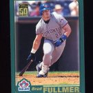 2001 Topps Baseball #409 Brad Fullmer - Toronto Blue Jays