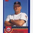 2003 Topps Baseball #278 Ron Gardenhire MG - Minnesota Twins
