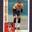 1984 Topps Baseball #754 Kent Tekulve - Pittsburgh Pirates