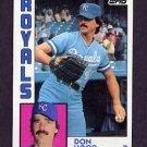 1984 Topps Baseball #743 Don Hood - Kansas City Royals