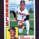 1984 Topps Baseball #735 Rick Burleson - California Angels
