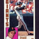 1984 Topps Baseball #542 Duane Kuiper - San Francisco Giants