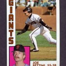 1984 Topps Baseball #449 Joe Pettini - San Francisco Giants