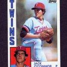1984 Topps Baseball #268 Jack O'Connor - Minnesota Twins