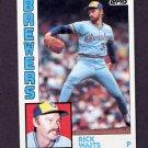 1984 Topps Baseball #218 Rick Waits - Milwaukee Brewers