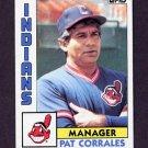 1984 Topps Baseball #141 Pat Corrales MG - Cleveland Indians