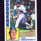 1984 Topps Baseball #112 Tom Niedenfuer - Los Angeles Dodgers