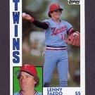 1984 Topps Baseball #084 Lenny Faedo - Minnesota Twins