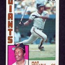 1984 Topps Baseball #058 Max Venable - San Francisco Giants