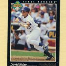 1993 Pinnacle Baseball #269 David Hulse RC - Texas Rangers