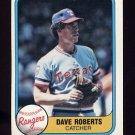1981 Fleer Baseball #636 Dave Roberts - Texas Rangers