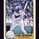 1981 Fleer Baseball #611 Larry Milbourne - Seattle Mariners