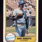 1981 Fleer Baseball #607 Dave Roberts - Seattle Mariners