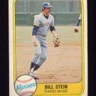 1981 Fleer Baseball #605 Bill Stein - Seattle Mariners