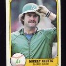 1981 Fleer Baseball #584 Mickey Klutts - Oakland A's