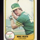 1981 Fleer Baseball #583 Mike Heath - Oakland A's