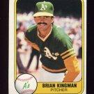 1981 Fleer Baseball #579 Brian Kingman - Oakland A's