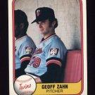 1981 Fleer Baseball #564 Geoff Zahn - Minnesota Twins