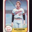1981 Fleer Baseball #560 Pete Redfern - Minnesota Twins