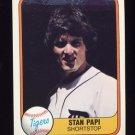 1981 Fleer Baseball #480B Stan Papi - Detroit Tigers