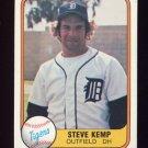 1981 Fleer Baseball #459 Steve Kemp - Detroit Tigers