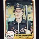 1981 Fleer Baseball #450 Johnnie LeMaster - San Francisco Giants