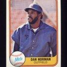 1981 Fleer Baseball #337 Dan Norman - New York Mets