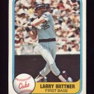 1981 Fleer Baseball #314 Larry Biittner - Chicago Cubs