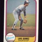 1981 Fleer Baseball #253 Luis Gomez - Atlanta Braves