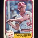 1981 Fleer Baseball #217 Paul Householder - Cincinnati Reds