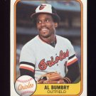 1981 Fleer Baseball #172 Al Bumbry - Baltimore Orioles