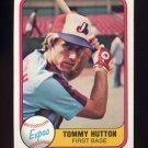 1981 Fleer Baseball #164 Tommy Hutton - Montreal Expos