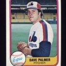 1981 Fleer Baseball #160 David Palmer - Montreal Expos