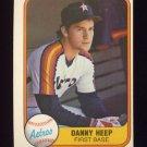 1981 Fleer Baseball #072 Danny Heep - Houston Astros