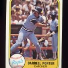 1981 Fleer Baseball #036 Darrell Porter - Kansas City Royals