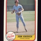 1981 Fleer Baseball #022 John Vukovich - Philadelphia Phillies
